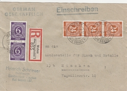 Allemagne Zone AAS Lettre Recommandée Wehen 1946 - Zona AAS