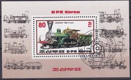 1983, Korea-Nord, 2374 Block 146 , Lokomotiven,  Railway, Used First Day Oo - Korea (Nord-)