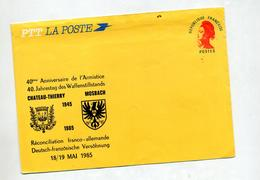 Lettre Entiere Gandon  Anniversaire Armistice Chateau-thierry Mosbach Usée - Postal Stamped Stationery