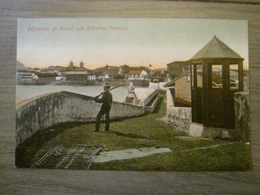 Tarjeta Postal Postcard - Panama - Policeman On Guard - Las Bobedas - Maduro Jr. 86a (Germany) - Panama