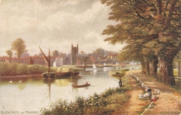 """""""R.F.McIntyre.. Isleworth On Thames"""" Tuck Oilette Picturesque Thames Ser.PC # 7121 - Tuck, Raphael"""