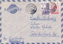 Finland Par Avion LAPPEENRANTA 1951 Cover Brief RÜEDISBACH Belgium 2x Red Cross Rotes Kreuz Croix Rouge Blutspende - Finnland