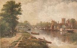 """R.F.McIntyre.. IKingston- On Thames"" Tuck Oilette Picturesque Thames Ser.PC # 7121 - Tuck, Raphael"