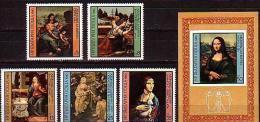 BULGARIA \ BULGARIE ~ 1980 - Leonardo Da Vinci - Madonni - 5v + Bl** - Bulgarie
