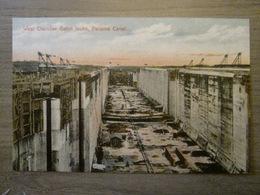 Tarjeta Postal Postcard - Panama - West Chamber Gatun Locks - Panama Canal - Maduro Jr. I - Panama