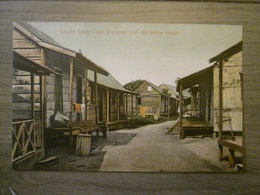 Tarjeta Postal Postcard - Panama - Empire Canal Zone And Old Native Street - Maduro Jr. 40a (Germany) - Panama