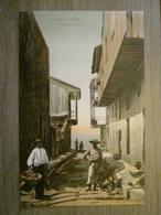 Tarjeta Postal Postcard - Panama - A Narrow Street - Workers Carrier - Maduro Jr. 33a (Germany) - Panama