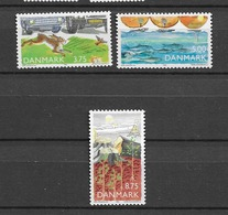 1992 MNH Danmark, Michel 1032-4 Postfris** - Danimarca