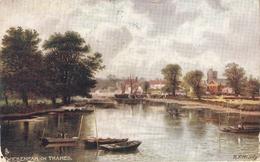 """R.F.McIntyre.. Wicckenham On Thames"""" Tuck Oilette Picturesque Thames Ser.PC # 7121 - Tuck, Raphael"
