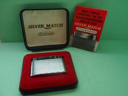 BRIQUET SILVER MATCH + BOITE LIGHTER Feuerzeug ACCENDINO ENCENDEDOR AANSTEKER  Léttari Ljusare ライター αναπτήρας ///////// - Briquets