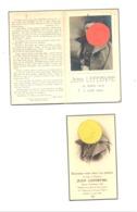 Guerre 40/45 - Faire-part De Décès De Jean LEFEBVRE - ESPIERRES 1918 / 1944 - Militaire, Armée Belge. (b247) - Décès