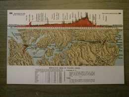 Tarjeta Postal Postcard - Panama - Bird's Eye View Of Panama Canal - Litho Embossed -  Maduro Jr. - Panama