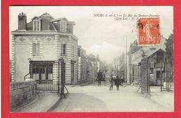 TOURS 1916 RUE DU DOCTEUR FOURNIER CARTE EN TRES BON ETAT - Tours