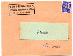 LOIRE INFre - Dépt N° 44 = St JEAN De BOISEAU 1962 = FETES Du PE / FESTIVAL FOLKLORE - Postmark Collection (Covers)