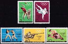 1972 Korea-Nord, 1103/07, Olympische Sommerspiele, München. MNH ** - Korea (Nord-)