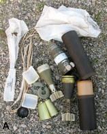 Rare & Superbe - COCON & OBUS MO 81éclairant Utilisé Avec Parachute -Totalement INERTE  - Voir Photos - Armes Neutralisées