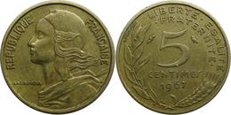 France - Cinquième République - 5 Centimes 1967 Marianne - France