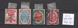 Deutschland  Deutsches Reich  Gestempelt  107-110 Nationalversammlung Weimar 1919  Katalog 7,00 - Deutschland