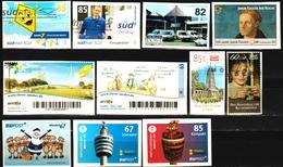 2013/18: Bund Lot Privatpostmarken Gebr. (d747) / Allemagne Lot Timbres Privée Obl. - Private & Local Mails