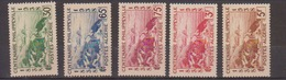 ALGERIE         N°  YVERT  :   142/146          NEUF AVEC  CHARNIERES      ( Ch 1/18  ) - Algérie (1924-1962)