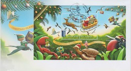 Christmas Island 2016 Christmas Miniature Sheet FDC - Christmas Island