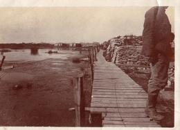 PHOTO BELGIQUE - TRANCHEE DE 1ere LIGNE SECTEUR DE RAMPSCAPELLE PRES NIEUPORT BELGIQUE BELGIE 1917 - GUERRE 1914 1918 - 1914-18