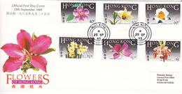 Hong Kong 1985 Flowers FDC - Hong Kong (...-1997)