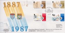Hong Kong 1987 Medical Centenary FDC - Hong Kong (...-1997)