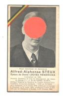 Guerre 40/45 - Faire-part De Décès De Alfred STEUX, Armée Secrète, Combattant, ...DOTTIGNIES 1918/ Munich 1944 (b247) - Décès