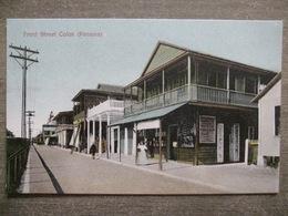Tarjeta Postal Postcard - Panama - Front Street Colon - Maduro Jr. 2C - Panama