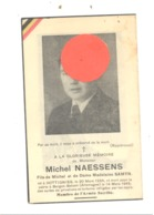 Guerre 40/45 - Faire-part De Décès De Michel NAESSENS Armée Secrète.DOTTIGNIES 1924/ Bergen-Belsen 194 (b247) - Décès