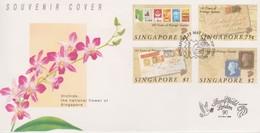 Singapore 1990 London 90 Stamp Expo FDC - Singapore (1959-...)