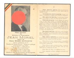 Guerre 40/45 - Faire-part De Décès Jean MOREL, Pharmacien, Armée Secrète.HOUTHEM 1888/ Neuengamme 1944 (b247) - Décès
