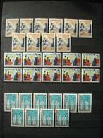 SOUTH KOREA 1967 STOCK X10 Nr 485/487 MNH** / COT. 120 € / FOLKLORE COSTUMS / Corée Du Sud - Corée Du Sud