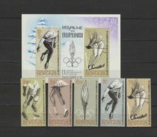 Burundi 1964 Olympic Games Innsbruck Set Of 5 + S/s Imperf. MNH -scarce- - Winter 1964: Innsbruck