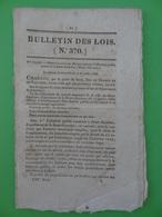 N°370, 1830, Construction D'un Abattoir Public à Saint-Gaudens (Haute-Garonne) Elevage, Agriculture, Boucherie - Decrees & Laws