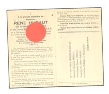 Guerre 40/45 - Faire-part De Décès MRené HUBAUT, Prisonnier Politique,armée Secrète,...DOTTIGNIES 1923/  1946 (b247) - Décès