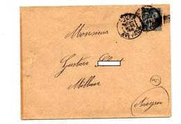 Lettre Cachet Rodez Sur Sage Marque C5 - Marcophilie (Lettres)