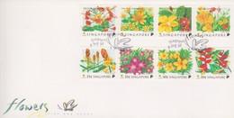 Singapore 1998 Flowers FDC - Singapore (1959-...)