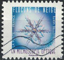France 2018 Oblitéré Used Flocons De Neige En Microscopie Optique Timbre 11 - France