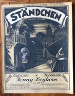 SPARTITO MUSICALE Ed.G.Carisch 1920 - STANDCHEN  CAREZZE DELL'ALBA  Di YONNY BEYKENS - Libri, Riviste, Fumetti
