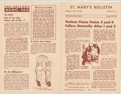 Bollettino Ufficiale Chiesa ST. MARY'S BULLETIN New Jersey 12 Luglio 1956 - 1950-Now