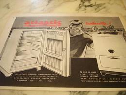 ANCIENNE PUBLICITE POUR MACHINE A  LAVER ROBUSTE ATLANTIC 1960 - Publicité