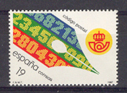 Spain 1987. Codigo Postal Ed 2906 (**) Mi 2785 - 1931-Heute: 2. Rep. - ... Juan Carlos I