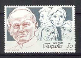 Espagne 1989- Visite Papale Ed 3022 Yv 2637 (**) - 1931-Aujourd'hui: II. République - ....Juan Carlos I