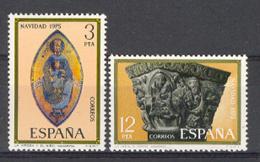 Spain 1975 - Navidad Ed 2300-01 (**) Mi 2193-2194 - 1931-Heute: 2. Rep. - ... Juan Carlos I