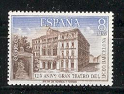 Spain 1972 - Teatro Del Liceo Ed 2114 (**) Mi 2009 - 1931-Heute: 2. Rep. - ... Juan Carlos I