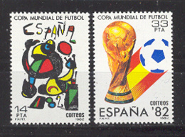 Espagne 1982. Coupe Du Football Ed 2644-45 Yv 2272-73 (**) - 1931-Aujourd'hui: II. République - ....Juan Carlos I