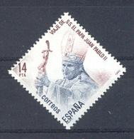 Spain. 1982 Visita Papa Juan Pablo II Ed 2675 (**) Mi 2561 - 1931-Heute: 2. Rep. - ... Juan Carlos I