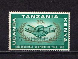KENYA  UGANDA  TANGANYIKA    1965    I C Y  40c  Green  And  Gold    USED - Kenya, Uganda & Tanganyika